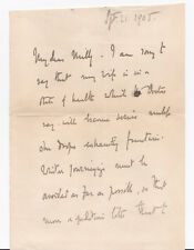 GOVERNOR GENERAL of CANADA JOHN CAMPBELL, Duke of ARGYLL 1905 AUTOGRAPH LETTER