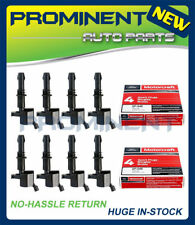 8 Ignition Coils DG511 Spark Plugs SP515 / SP546 Replacement For Ford Lincoln