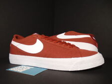 NIKE DUNK BLAZER ZOOM LOW CANVAS SB CNVS CAYENNE RED RUST WHITE 889053-619 DS 10
