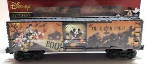 ✅O Gauge - Lionel - Disney Happy Halloween Box Car Train 6-38302 Mickey Mouse