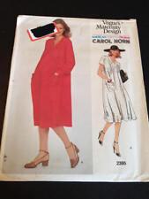 Vogue 2395 Uncut Sewing Pattern, Misses' Maternity Dress, Size 8, Carol Horn
