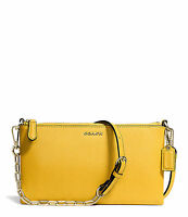 NWT Coach Kylie Crossbody in Saffiano Leather Purse 50839 Light Gold / Sunglow