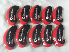 10Pcs Golf Iron Headcovers for Taylormade Rsi Club Head Covers Red&Black 4-Lw