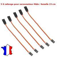 5x Cable Rallonge pour Servomoteur 26awg JR Male/Femelle 15cm - Extension servo