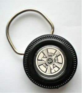 ORIGINAL 1960's ANSEN SPEED AND POWER MAG WHEEL KEY RING KEY CHAIN HOT ROD COOL!