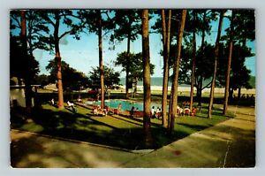Biloxi MS-Mississippi, Sea Gull Court, Chrome c1968 Postcard