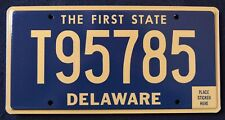 "DELAWARE "" THE FIRST STATE - T95785 "" MINT DE License Plate"