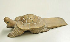 DOOR STOPPER - WOODEN TURTLE  DOOR STOP - TURTLE DOORSTOP - WHITE WASH FINISH