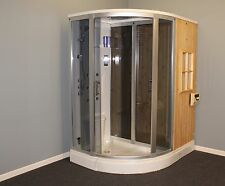Steam Shower Cabin and Dry Sauna Combo ,Bluetooth.6 Year USA Warranty.