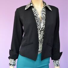 NWT! Ladies Black Reversible Fashion Blazer W/ Deep Pockets Sizes XS-S-M-L