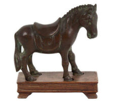 China 20. Jh Pferd - A Chinese Bronze Figure of A Horse Statuette Chinois Cinese