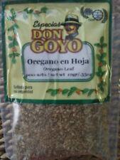 Oregano leaf/ Oregano en Hoja. Don Goyo spices. Net wg .35oz/10gr