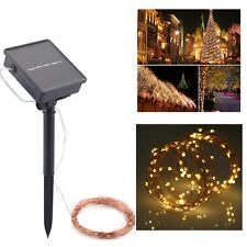 10M 100LED 8 modes Waterproof Solar Power Fairy String Lights Garden Party Xmas