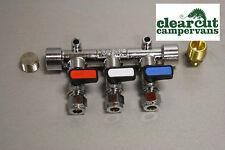 8mm Triple Gas Isolator, Motorhome/Campervan,  Gas Manifold Isolation Valve