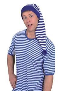Mütze Zipfel Zipfelmütze Streifen Ringeware Zwergen Kostüm Kleid Damen Herren