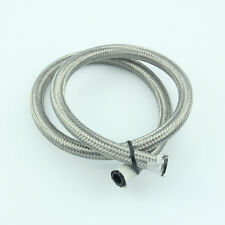 8AN AN-8 Stainless Steel Braided Oil Fuel Line Hose 1Meter 3FeeT Silver