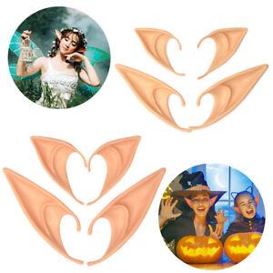Latex Elf Ears Cosplay Wrap Fairy Goblin Artificial Ears Halloween Costume⭐Party