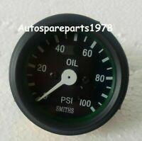 """Smith black Oil Pressure Gauge 100 psi black Bezel 52 mm mechanical 1/8"""""""