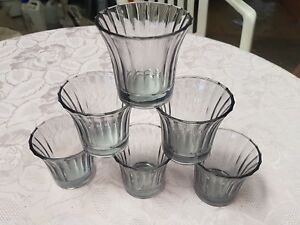 1 Lot de 6 pots en verre pour bougies