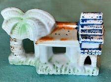 New listing Japan: Vintage Pagoda & Palm Tree Aquarium Fish Tank Decoration Ornament