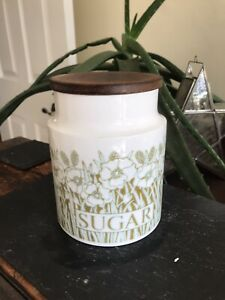 Vintage Hornsea Fleur Sugar Storage Jar Medium