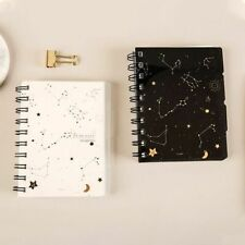 Transparent Notebook Hardcover For School Student Spiral Composition Rule Sheets