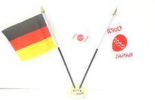 Germania & Tokyo Giappone Olimpiadi 2020 Da scrivania Bandiere & 59mm set badge