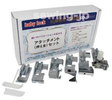 NEW! Babylock 6 Feet Bonus Package Evolution Ovation Serger Foot Set W-Wide