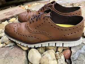 Mens Cole Hahn Zero Grand Oxford Size 9 Brown Wing Tip