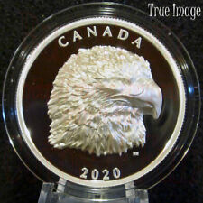 2020 Proud Bald Eagle - $25 EHR Extra High Relief Proof Pure Silver Coin Canada