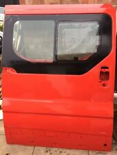 Vauxhall Vivaro 2006-2014 O/S Drivers side Sliding door with glass, in Red.