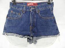 LEVIS 550 Shorts Girls/Womens Size 12 Slim W24 L26.5 Blue Denim