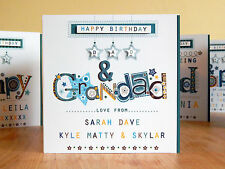 Dad Grandad birthday card personalised special card. Dad Papa grandpa Pop card