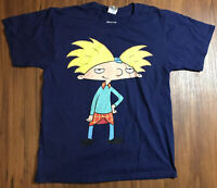 Men's Vintage 90's Nickelodeon Hey Arnold Big Logo Graphic T Shirt Medium Rare!