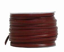 Ziegenleder Lederriemen, Lederband flach mittelbraun, Länge 25 m, Breite ca. 3 m