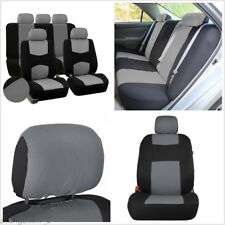 Auto Car Seat Cover 5-Seats Front+Rear Cushion Sedan SUV Mesh Polyester Gray Set