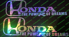 Honda Civic Type R THE POWER OF DREAMS EP3 OR FN2 / FK2 STICKER CAR OIL SLICK