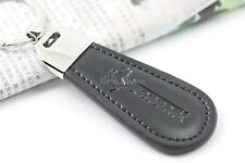 Ferrari Keyring NEW UK Seller - Silver Black Car Key Ring KeyChain Leather