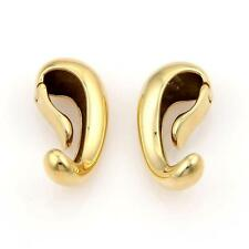 Georg Jensen 18k Yellow Gold Fluid Curves Clip on Earring