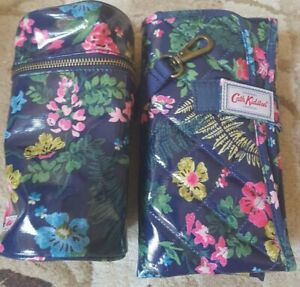 New Cath Kidston Twilight Garden Nappy Changing Mat and insulated bottle holder