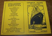 1930 Canadian Pacific Steamship Advertising Calendar