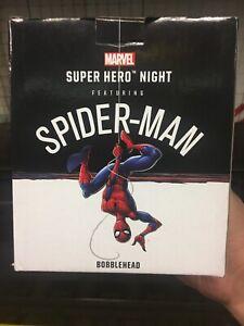 2019 Brooklyn Nets Spiderman SGA Bobblehead Barclay Center Marvel NY Avengers