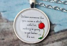 Lorax Truffula Tree 'Unless' Quote necklace - silver or bronze pendant jewellery