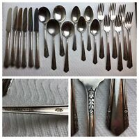 Wm.A.Rogers 1934 Malibu Set of 20 Mixed Lot Oneida Ltd Silverplate Flatware