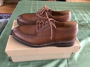 Mens Clarks Whitman Lace Dark Tan Lace Up Shoes Sz 9 M NIB