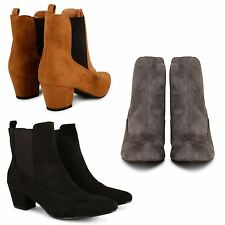 Unbranded Slip On Block Heel Ankle Boots for Women