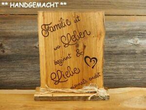 Holzschild Dekoschild Tafel Holzbrett mit Spruch Geschenke Familie Schilder Deko