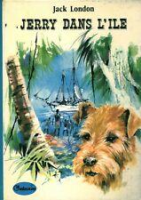 Livre Jerry dans l'île Jack London Hachette 1975 book