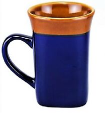MUGS!STONEWARE,COFFEE,TEA,ETC,SQUARE SHAPED,THREE(3)!BLUE,NWT,HEFTY,FREE SHIP!