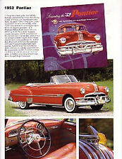 1952 Pontiac Chieftian + Convertible + Sedan Delivery Article - Must See !!